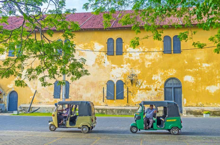 Tuk-tuks in Galle, Sri Lanka.
