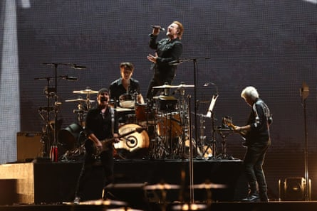 U2 perform at Suncorp Stadium in Brisbane on 12 November