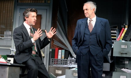 Aidan Gillen and Jonathan Pryce in Glengarry Glen Ross by David Mamet at the Apollo theatre, London, in 2007.