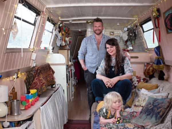 Inside Matt, Jo and Billy Beau's narrowboat
