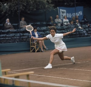 Goolagong was the highest-ranked female Australian player on tour following the retirement of Margaret Court. Evonne Goolagong competing at the Queen's Club, London, circa 1970.