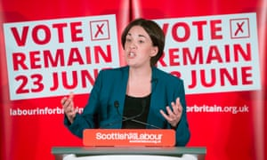 The Scottish Labour leader Kezia Dugdale supported Remain in 2016.