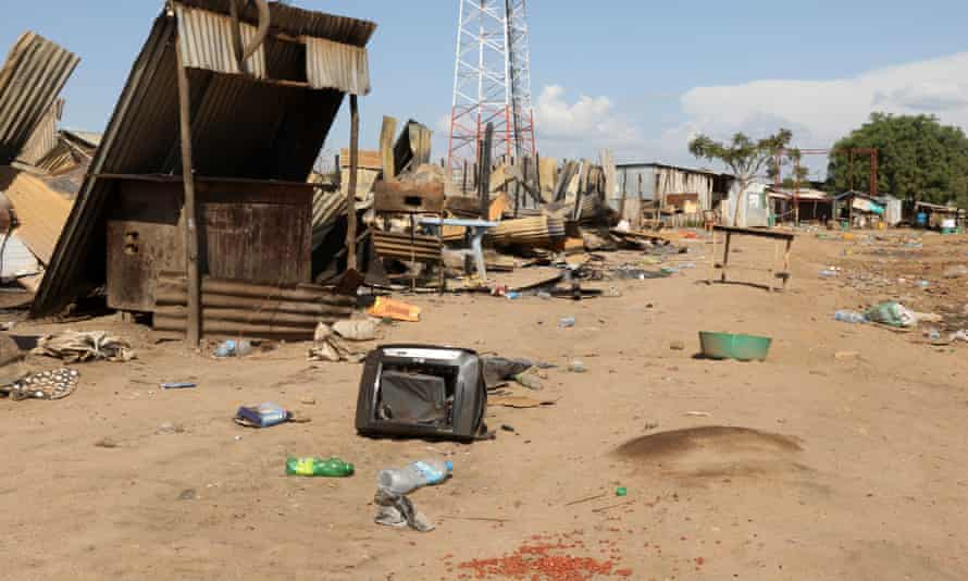 Jebel market, Juba, much of it destroyed by fighting
