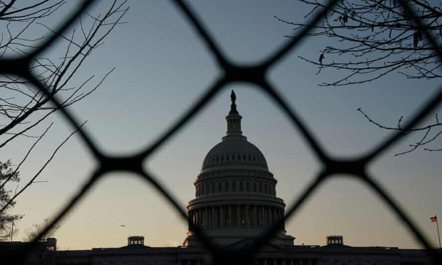 The US Capitol on First Day of Impeachment<br>The U.S. Capitol building exterior is seen at sunset as members of the Senate participate in the first day of the impeachment trial of President Donald Trump in Washington, U.S., January 21, 2020. REUTERS/Sarah Silbiger.