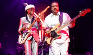 Virtuosic ... Nile Rodgers and bass player Jerry Barnes.