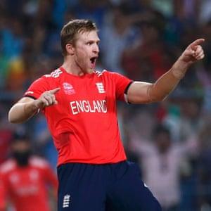 England's bowler David Willey.