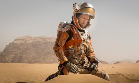 Matt Damon in The Martian, filmed in Jordan and Hungary.
