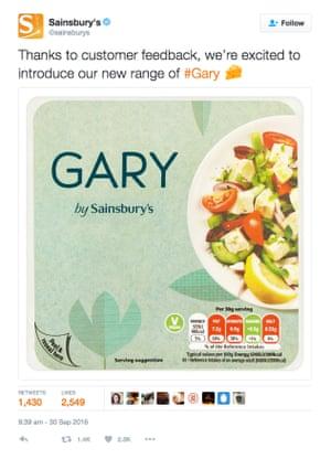 """Sainsbury's """"Gary""""."""