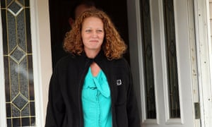 Kaci Hickox walks outside of her home to give a statement to the media in Fort Kent, Maine.