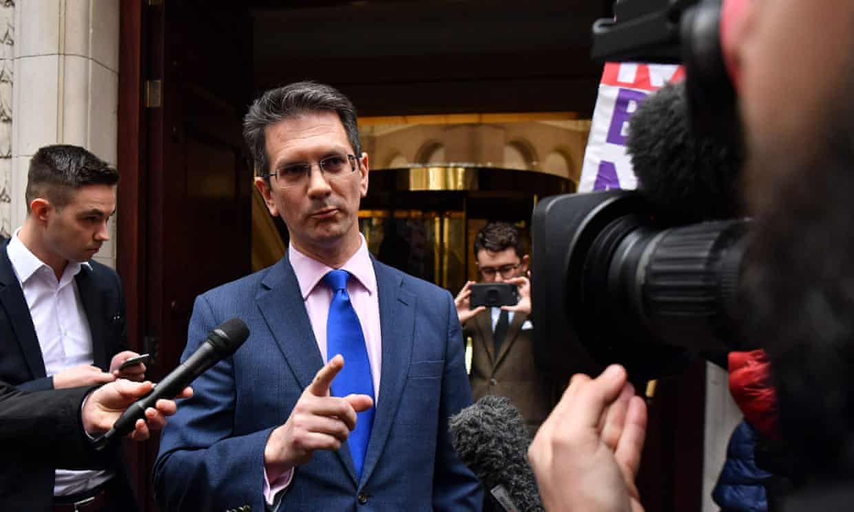 Tory MP Steve Baker outside parliament last November