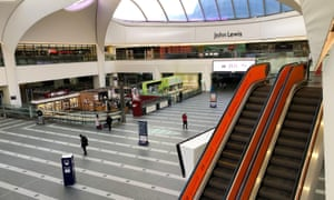 An almost deserted New Street train station in Birmingham