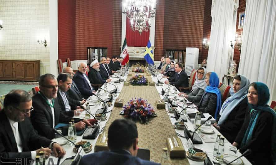 Iran Swedish delegation