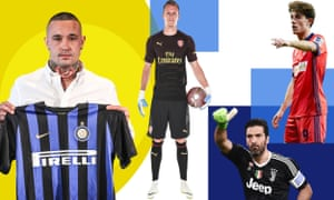 Left to right: Radja Nainggolan has joined Internazionale, Bernd Leno is an Arsenal player, Gianluigi Buffon has moved to PSG and Álvaro Odriozola has gone to Real Madrid.