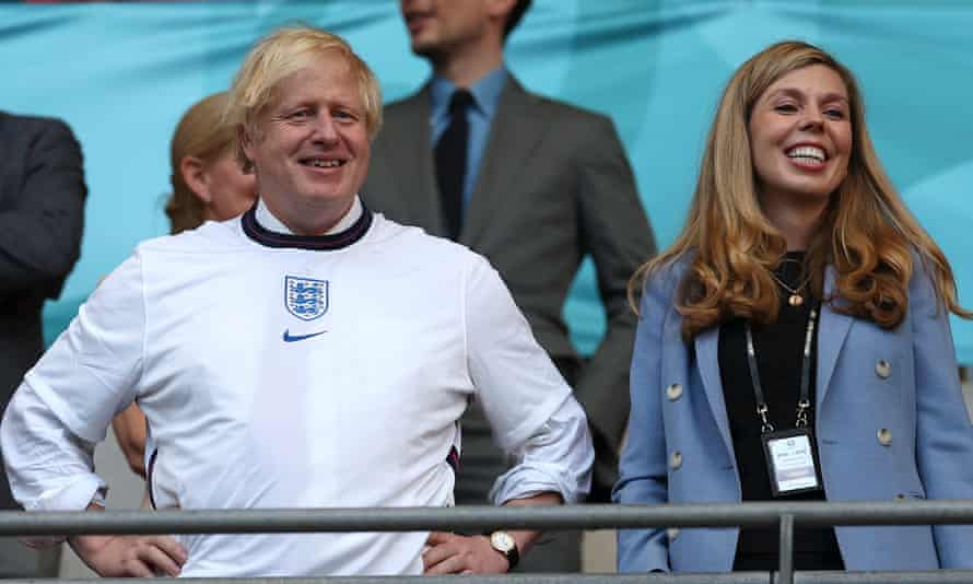 Boris Johnson at the England v Denmark match: 'The ball sports previously associated with the prime minister are ping-pong and the Eton wall game.'