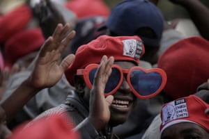 Harare, Zimbabwe Movement for Democratic Change supporters