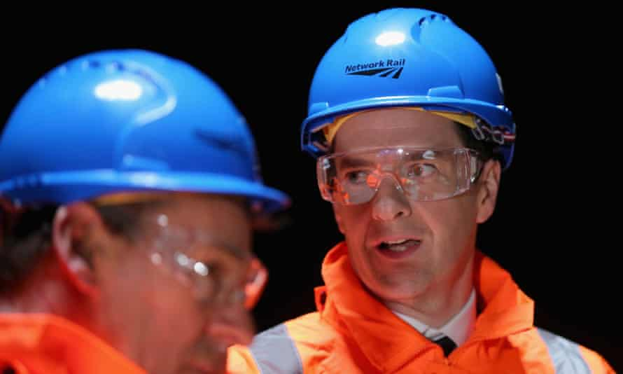 George Osborne in hard hat