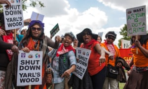 A protest against Yarl's Wood immigration removal centre