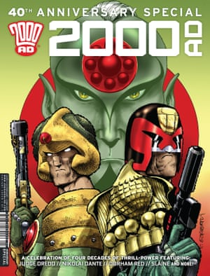 A 40th anniversary special of 2000AD, illustrated by Ezquerra.
