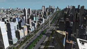 This player has created the city of Buenos Aires, with a view of the Obelisk monument located along one of the city's main arteries.