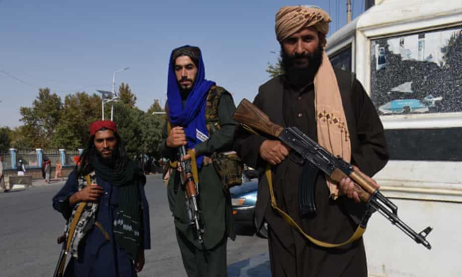 Taliban soldiers in Afghanistan.