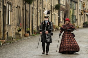 Steampunk enthusiasts attend the sixth annual Haworth Steampunk Weekend in Haworth, northern England
