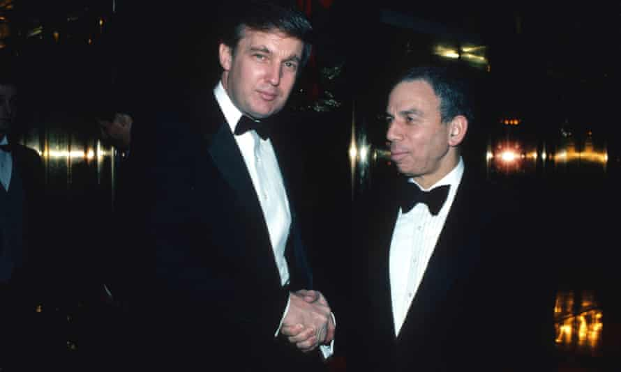 Si Newhouse with Donald Trump in 1987.