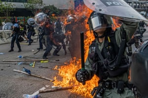 News, story, 2nd prize, Lam Yik Fei Protestors clash with riot police at Kowloon Bay in August