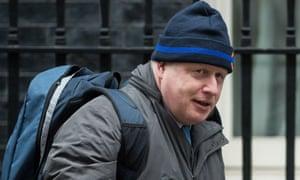 Boris Johnson leaving cabinet this morning.