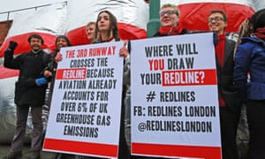 Plane Stupid activists outside the court hearing in Willesden