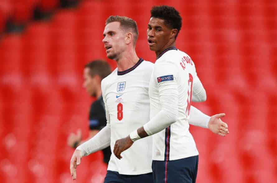 Jordan Henderson (left) and Marcus Rashford are certain to return to the England squad if fit.