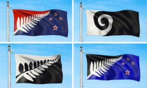 The four shortlisted alternative flags: quite fern-heavy.