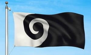 Koru, a shortlisted flag design by Andrew Fyfe