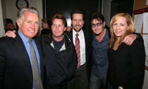 Martin Sheen (far left) with his family Emilio Estevez, Ramon Estevez, Charlie Sheen and Renee Estevez.