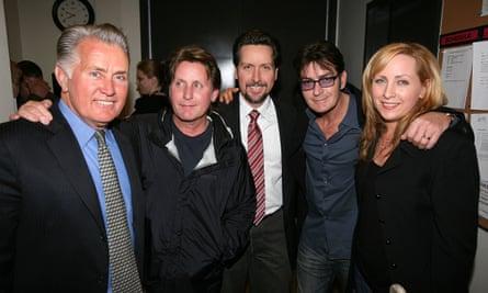 Martin Sheen (far left) with his family Emilio Estevez, Ramon Estevez, Charlie Sheen and Renee Estevez.