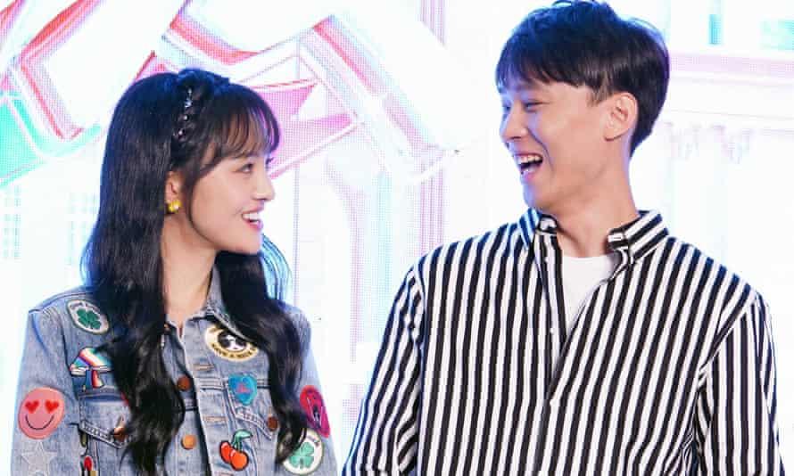 Actress Zheng Shuang and her boyfriend Zhang Heng