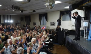 Nigel Farage speaking at a Brexit party rally near Pontefract this morning.