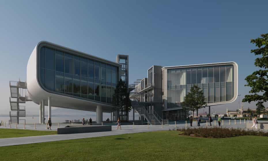 Renzo Piano's Centro Botín arts centre in Santander.
