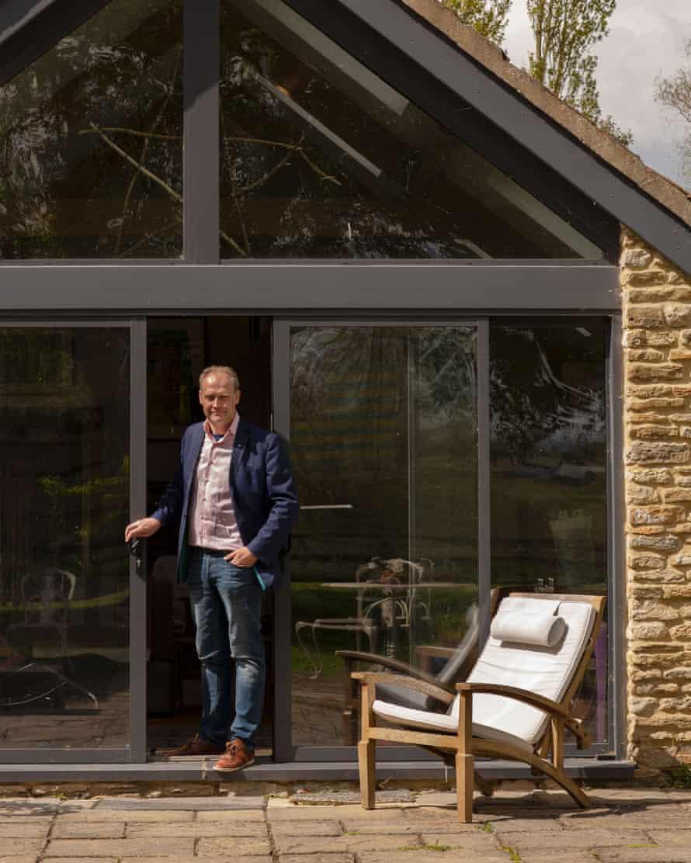 Simon Daniel at his home