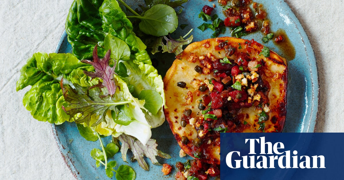 Thomasina Miers' celeriac steaks with sherry, lardons and capers | The Simple Fix
