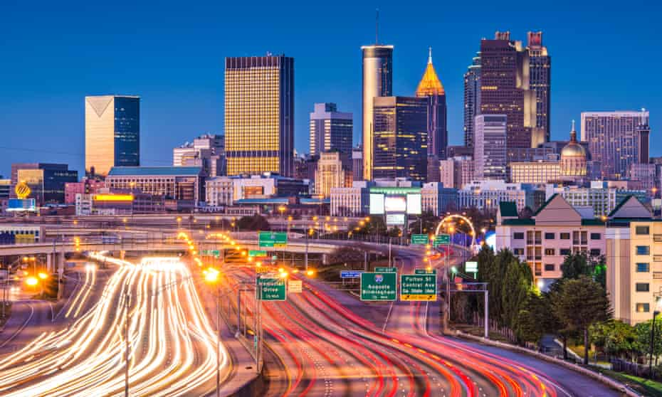 Atlanta is still known as a 'city in a forest' despite the fact that it was stripped of around 560,000 acres of trees between 1973 and 1999.