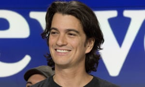 Adam Neumann, co-founder and CEO of WeWork, attends the opening bell ceremony at Nasdaq, in New York in 2018.