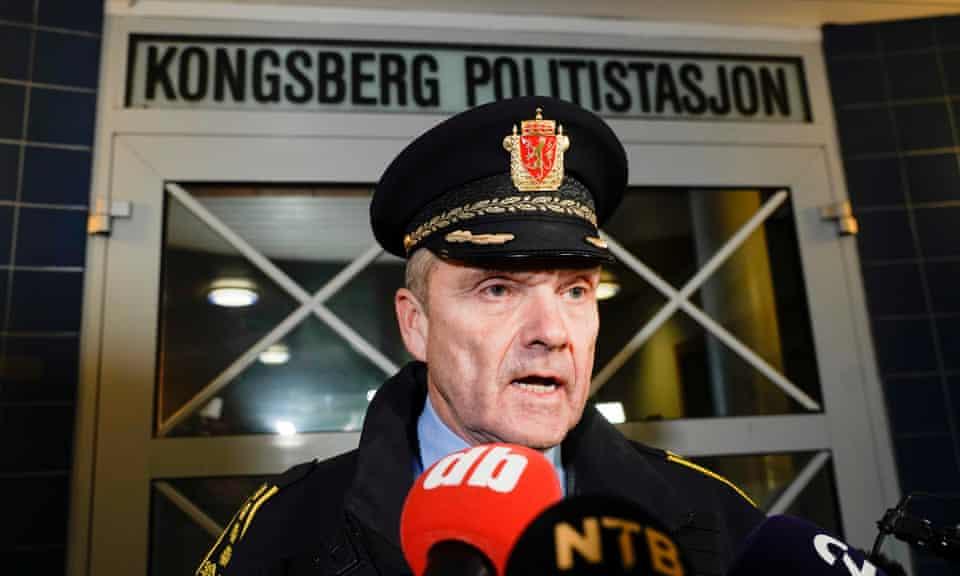 Øyvind Aas, the Kongsberg police chief