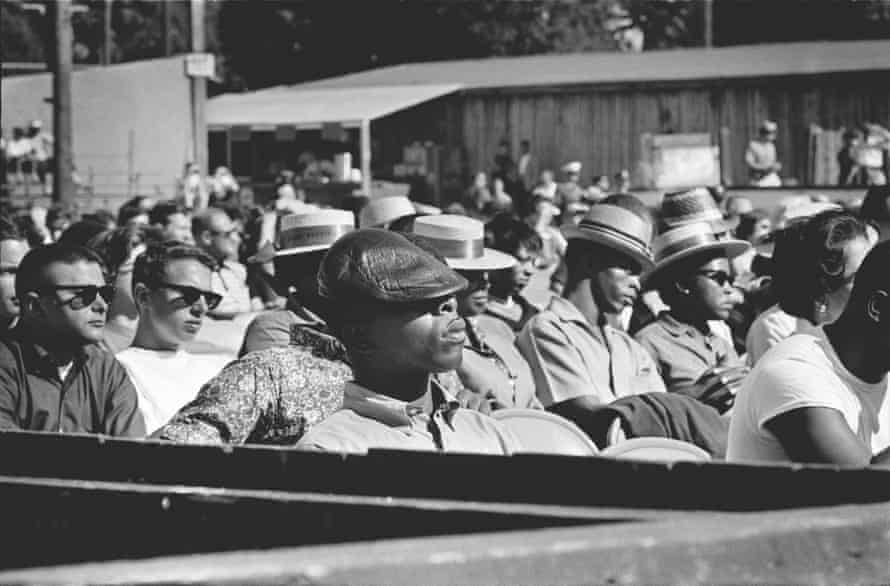 The crowd at the Monterey jazz festival, 1960