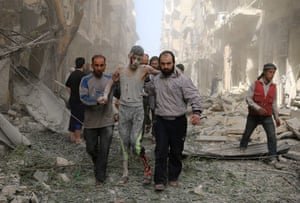 Aleppo, Syria: A wounded youth