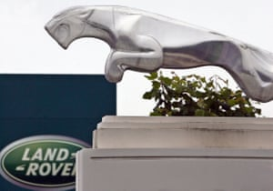 The JLR plant at Halewood in Liverpool, northwest England.