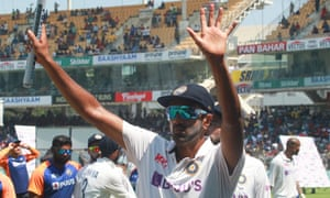 Ravichandran Ashwin celebrates.