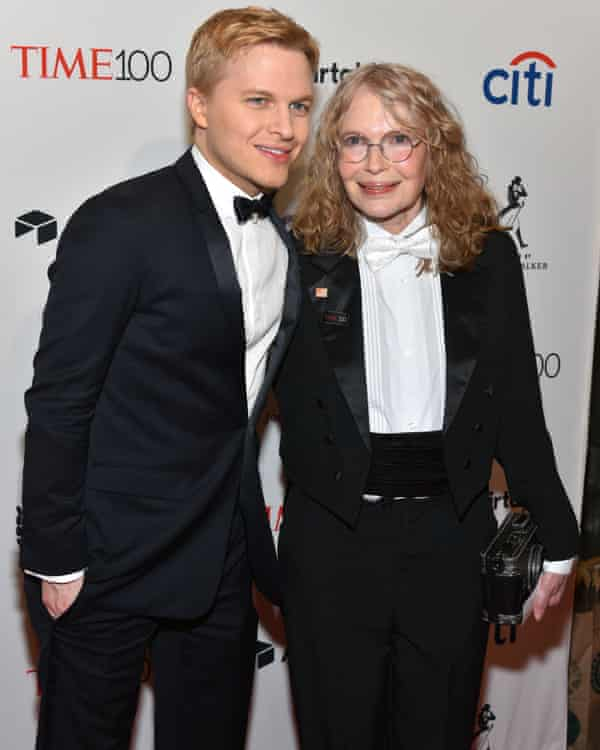 With his mother at a gala event in New York last month.