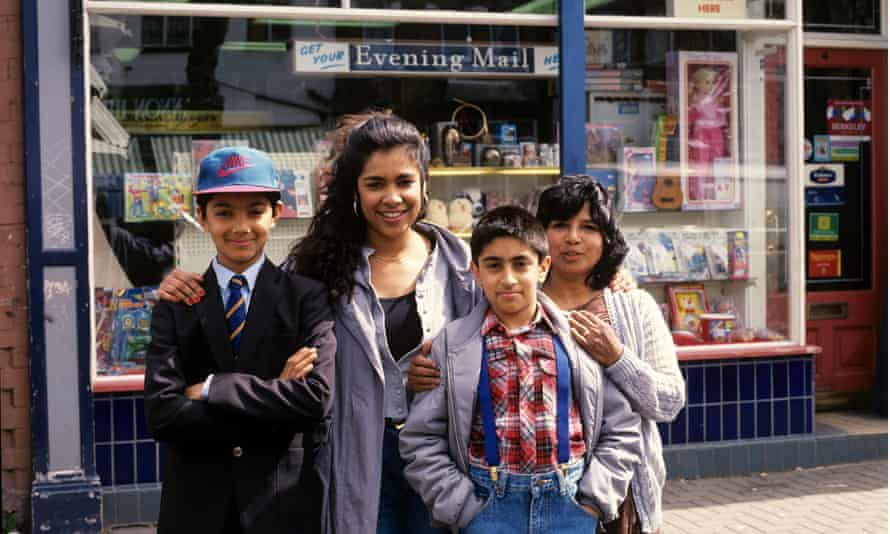 Characters from Family Pride, the only Asian soap to be made for British television, 1991-92, which was co-written by Mahmood Jamal.