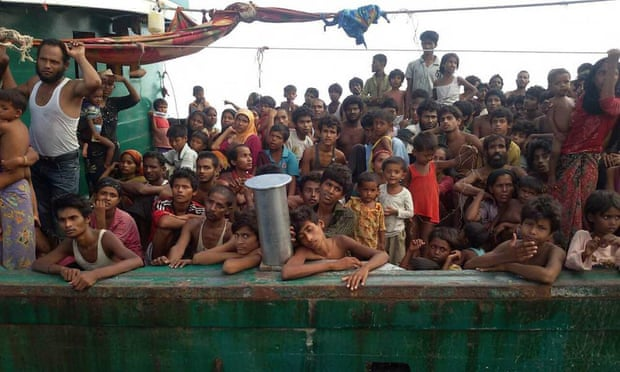 A boat crammed with scores of Rohingya migrants found drifting in Thai waters on May 14