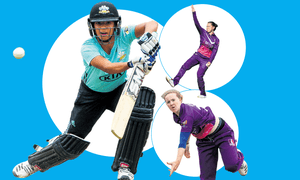 England's three new faces for the World Twenty20 (clockwise from main): Sophia Dunkley, Linsey Smith and Kirstie Gordon.
